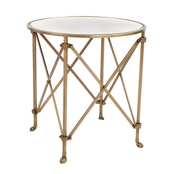 "Ballard Designs Olivia 30"" Round Mirrored Side Table"