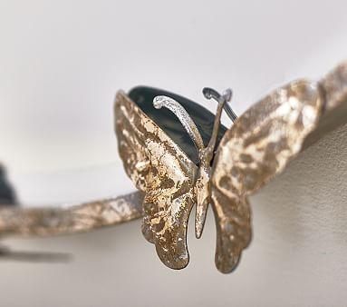 Monique Lhuillier Round Butterfly Mirror