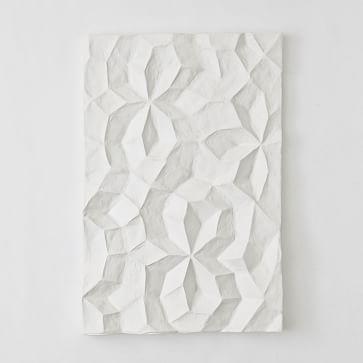Paper Mache Geo Panel Wall Art, Panel I