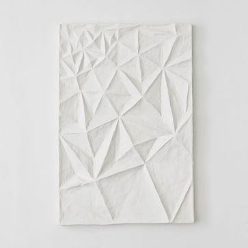 Paper Mache Geo Panel Wall Art, Panel III