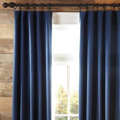Classic Sail Cloth Blackout Curtain, 44x96, Navy