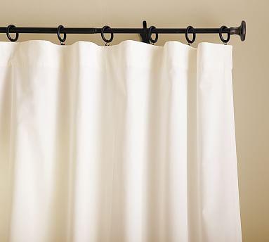 "Cameron Cotton Pole Pocket Drape, 50 x 96"", Marshmallow"
