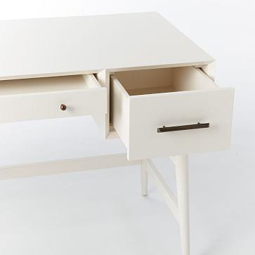 Mid-Century Desk, White