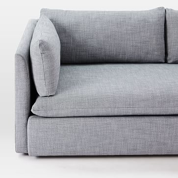 Shelter Sofa, Marled Microfiber, Heather Gray