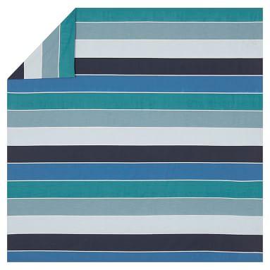 Kelly Slater Organic Tide Stripe Duvet Cover, Twin, Blue Multi