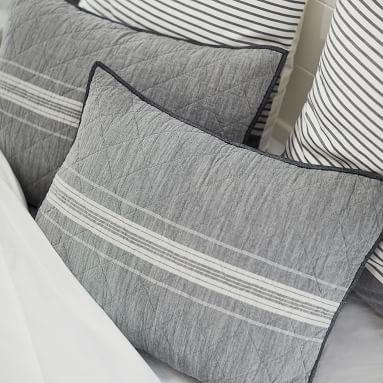 Windward Stripe Quilt, Twin, Multi