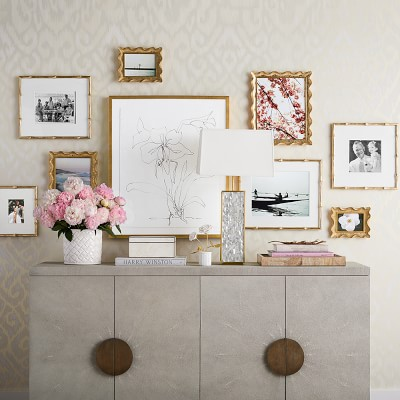 """AERIN Gold Scalloped Gallery Frame, 4"""" X 6"""""""
