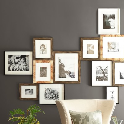 """Black Lacquer Gallery Picture Frame, 8"""" X 10"""""""