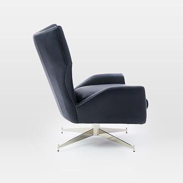 Hemming Leather Swivel Arm Chair, Saddle