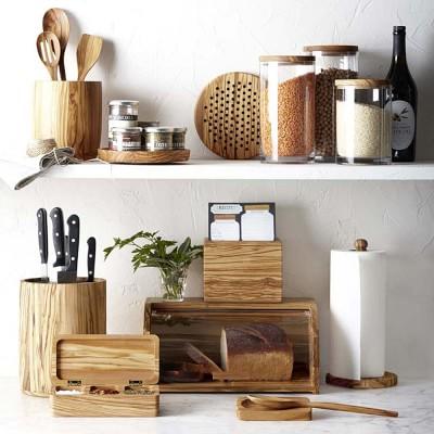Olivewood Breadbox