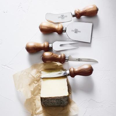 Antonini Olive Wood Cheese Knives, Set of 5