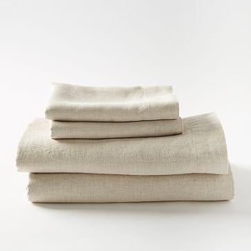 Belgian Linen Sheet Set, Queen, Natural Flax