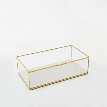Golden Glass Shadow Box, Small Rectangle