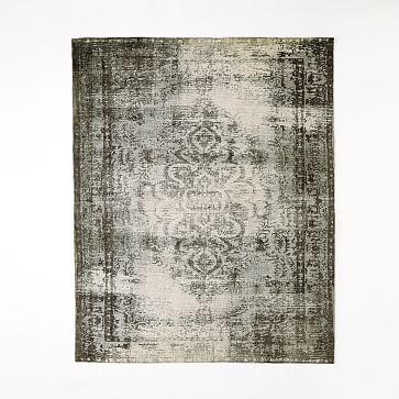 Distressed Arabesque Wool Rug 8 X10