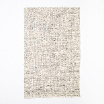 Heathered Basketweave Wool Rug, 9'x12', Steel