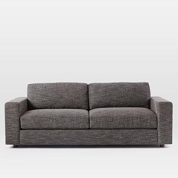 """Urban 84.5"""" Sofa, Twill, Stone, Down Fill"""