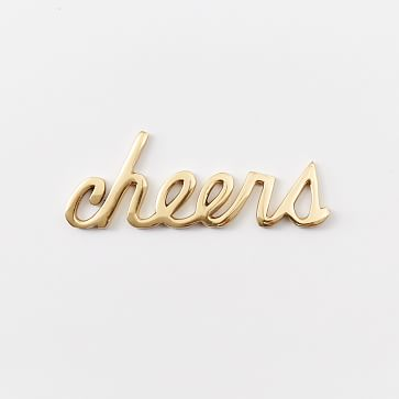 Brass Word Object, Cheers