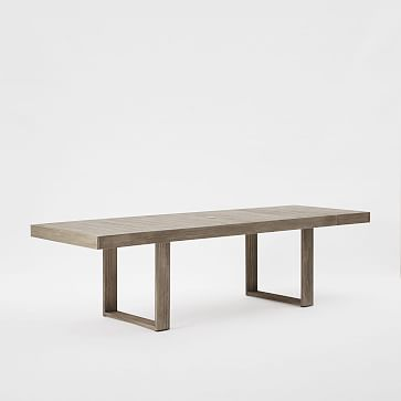 "Portside Expandable Dining Table, 74.5"" - 106"", Weathered Gray"