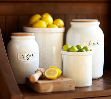 Rhodes Ceramic Canister, Large