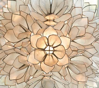 Capiz Flower Pendant