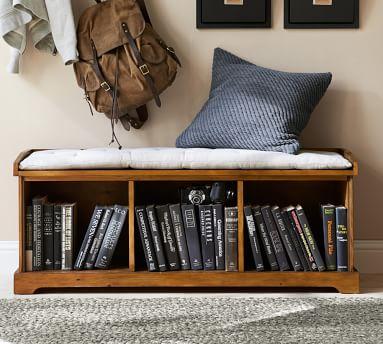 Samantha Tufted Bench Cushion, Sunbrella(R) Solid Natural