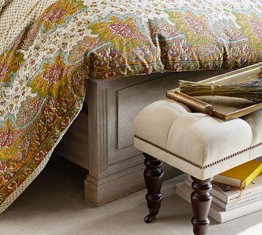 Livingston Bed, King, Grey Wash