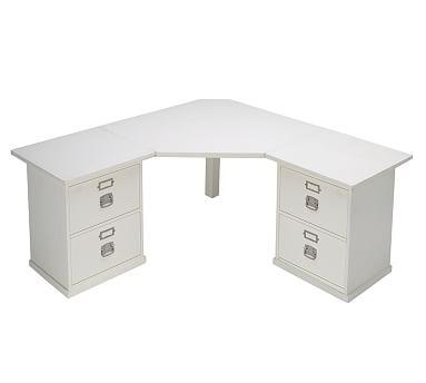 Bedford 4- Drawer Corner Desk, Antique White