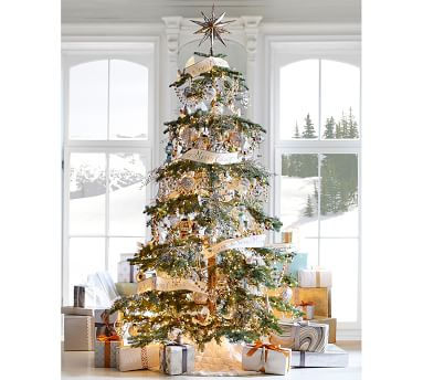 Mirrored Star Tree Topper, Gold - Large