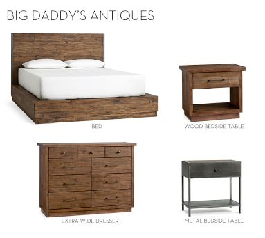 Big Daddy Extra-Wide Dresser, Rustic Natural