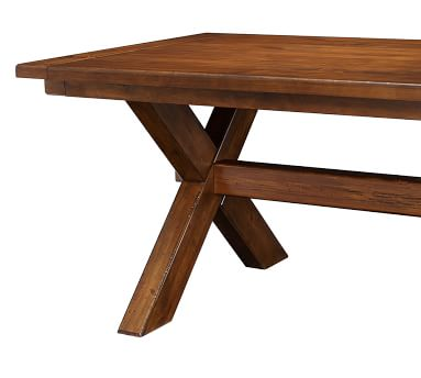"""Toscana Extending Dining Table, Small 60"""" - 84"""" L, Tuscan Chestnut"""