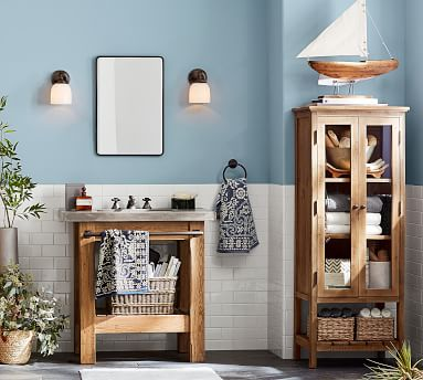 Rustic Wood Linen Closet, Wax Pine