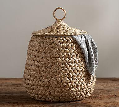 Beachcomber Lidded Tulip Basket
