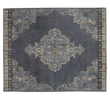 Bryson Persian-Style Tufted Wool Rug, 8 x 10', Navy