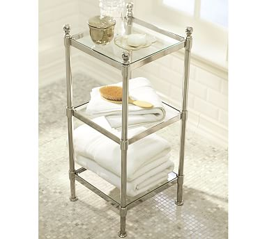 Metal Etagere, Small, Polished Nickel finish