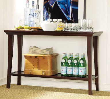 Metropolitan Console Table, Espresso stain