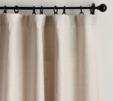 """Belgian Flax Linen Drape, Unlined, 50 x 108"""", Natural"""