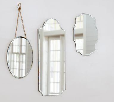 "Eleanor Frameless Mirror, Rectangular, Large, 15 x 35"""