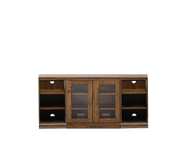 Printer's Media Stand, Bookcase, Tuscan Chestnut stain