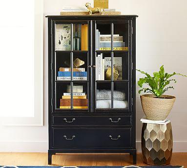 Bronson Bookcase Cabinet, Black