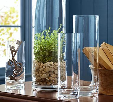 Aegean Clear Glass Vase, Tall
