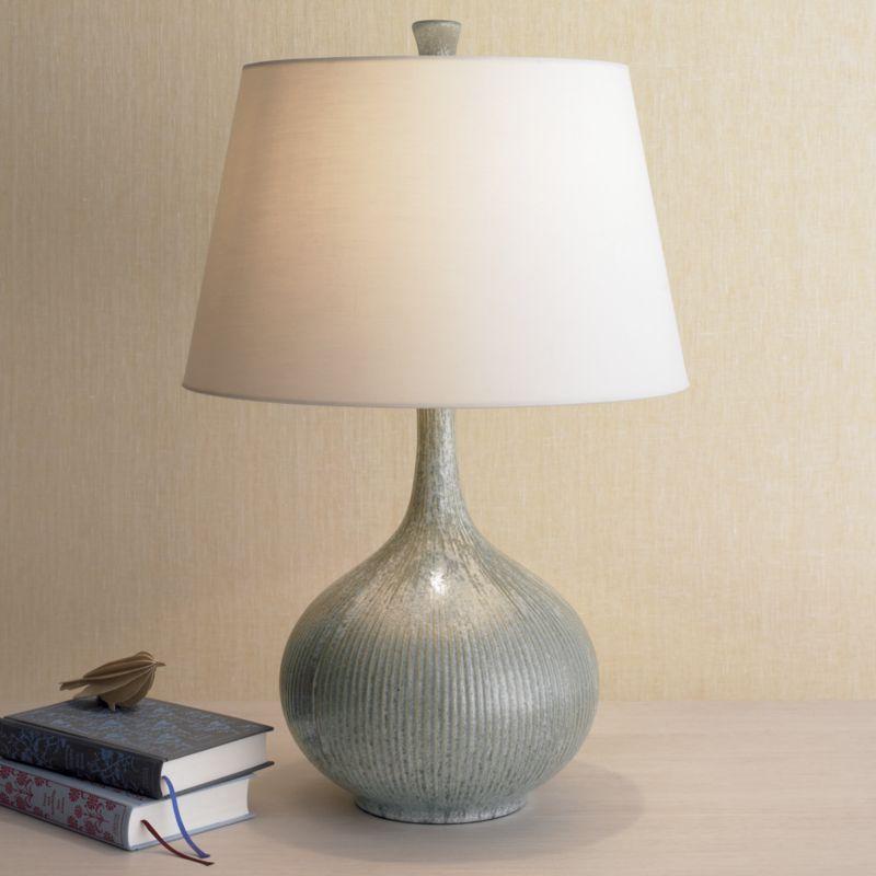Shaye Blue Table Lamp, Single