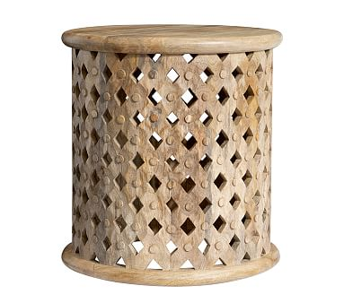 Stella Side Table, Antique White