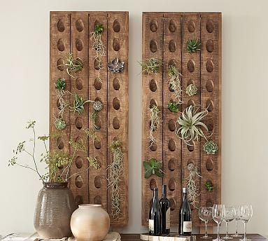 "Decorative French Wine Riddling Rack, 21 x 57"""