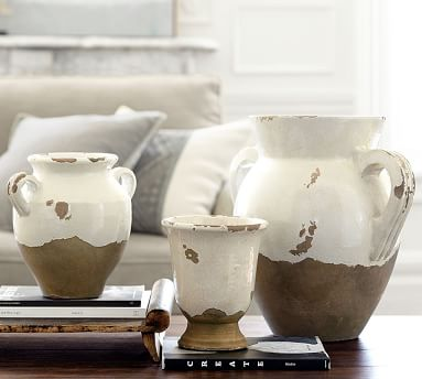 Tuscan Terracotta Vase, Cachepot
