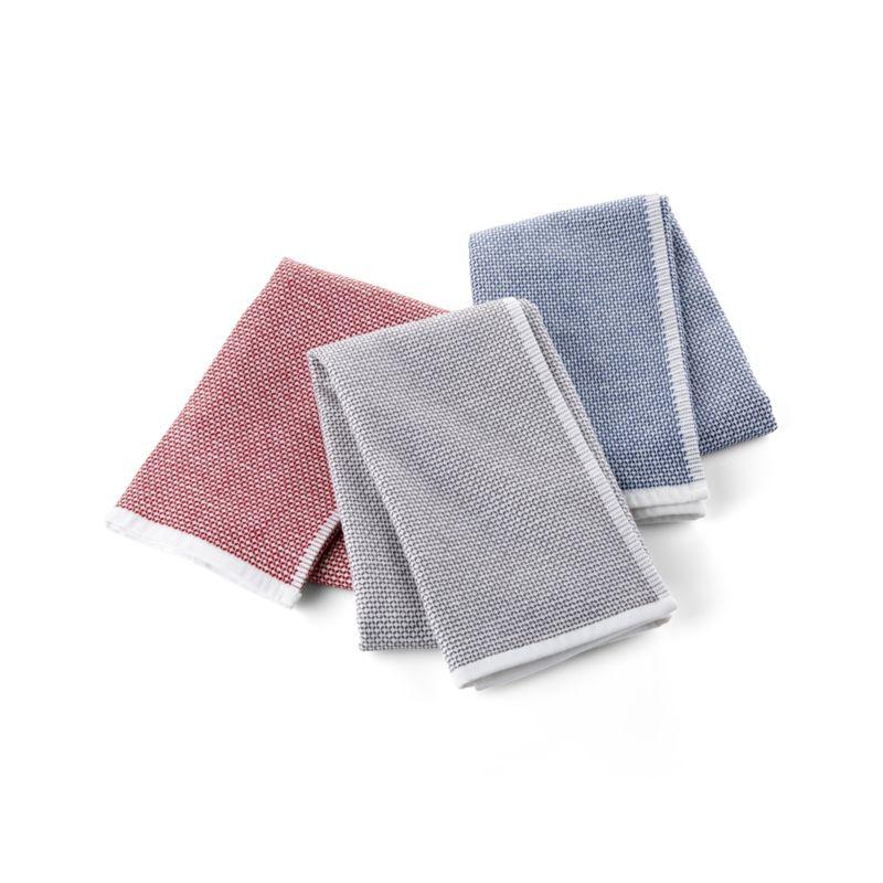 Grey Textured Terry Dish Towel, Set of 2