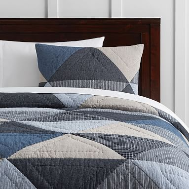 Huntley Patch Quilt, Twin, Blue Multi