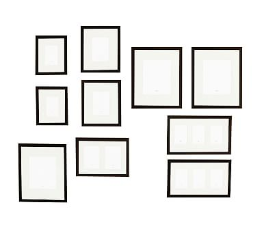 Gallery in a Box, Black Frames, Set of 10