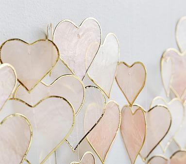 Capiz Heart Wall Hanging