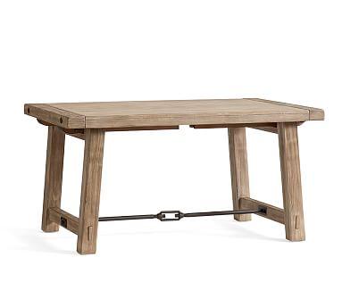 """Benchwright Extending Dining Table, Seadrift, 60"""" - 84"""" L"""