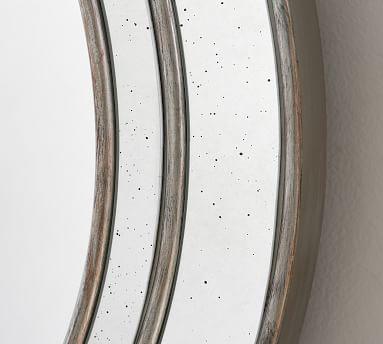 Marlena Antique Mirror Round - Brushed Silver